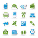 Communication and connection icons Stock Photo