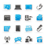 Communication and connection icons Stock Images