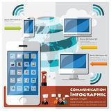 Communication And Connection Infographic Royalty Free Stock Photography