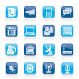 Communication, connection and technology icons. Vector icon set Stock Images