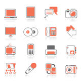Communication and connection technology icons. Vector icon set Royalty Free Stock Image
