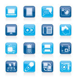 Communication and connection technology icons Stock Photos
