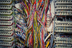 Communication control circuit panel for phones Stock Photo