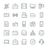 Communication Cool Vector Icons 4 Royalty Free Stock Images