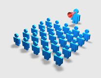 Communication, course, instruction, training, schooling concept with blue people Stock Photos