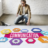 Communication Creative People Layout Graphic Concept Royalty Free Stock Image