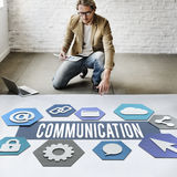 Communication Creative People Layout Graphic Concept Royalty Free Stock Photo