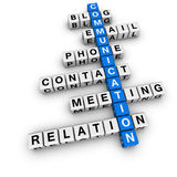 Communication crossword Royalty Free Stock Images