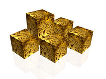 Communication cubes Stock Photography