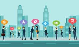 Communication d'affaires de travail social illustration libre de droits