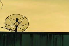communication d'antenne parabolique photo stock