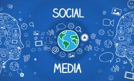 Communication d'Internet Images libres de droits