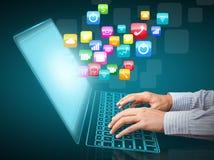 Communication d'Internet Photos libres de droits