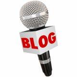 Communication d'opinion de part de boîte de microphone de blog illustration stock