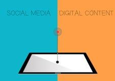 Communication dans le concept de comprimé EPS10 illustration libre de droits
