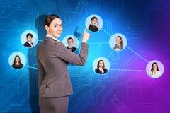 Communication de femmes d'affaires Images libres de droits