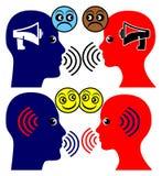 Communication de hurlement stoppée de début Image libre de droits