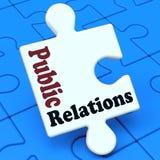 Communication de médias de moyens de relations publiques Photos stock