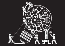 Communication de marché illustration de vecteur