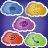 Communication de nuage photo libre de droits