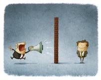 Communication de patron et d'employés illustration de vecteur