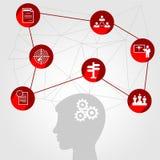 Communication de réseau dans le réseau global Personnes de connexion infographic illustration libre de droits