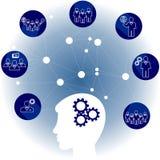 Communication de réseau dans le réseau global Personnes de connexion infographic images libres de droits