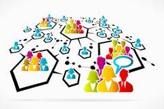 Communication de réseau Images libres de droits