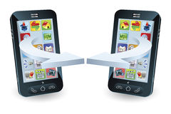 Communication de Smartphones Photos stock