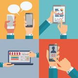 Communication de technologie illustration de vecteur