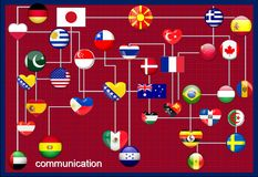 Communication des pays illustration stock