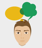 Communication design. bubble icon. conversation concept Stock Photo