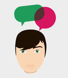 Communication design. bubble icon. conversation concept Stock Images