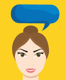 Communication design. bubble icon. conversation concept Royalty Free Stock Image