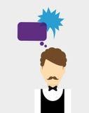 Communication design. bubble icon. conversation concept Royalty Free Stock Photos