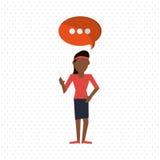 Communication design. bubble icon. Flat illustration, editable vector Royalty Free Stock Photo