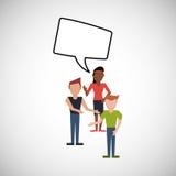 Communication design. bubble icon. Flat illustration, editable vector Stock Photography