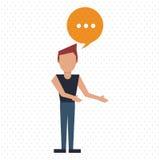 Communication design. bubble icon. Flat illustration, editable vector Royalty Free Stock Photography