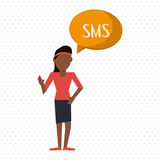 Communication design. bubble icon. Flat illustration, editable vector Royalty Free Stock Photos