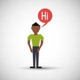 Communication design. bubble icon. Flat illustration, editable vector Stock Image