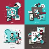 Communication Design Concept Set Royalty Free Stock Photography