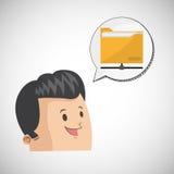 Communication design. Media icon. Flat illiustration,  graphic. Communication concept with icon design,  illustration 10 eps graphic Royalty Free Stock Images