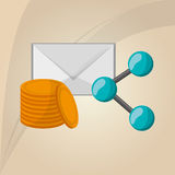 Communication design. Social media icon. mail concept Stock Image