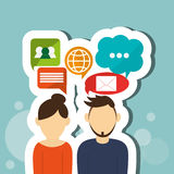 Communication  design , Vector illustration Stock Photos