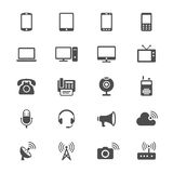 Communication device flat icons Stock Photography