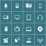 Communication device icon set, vector eps10 Stock Image