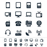 Communication device icons Royalty Free Stock Photography