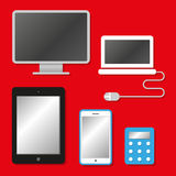 Communication devices icons Royalty Free Stock Image