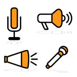 Communication Devices. An image of different communication devices Royalty Free Stock Photography