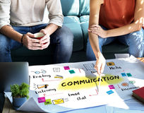 Communication Discussion Team Work Ideas Concept Stock Image